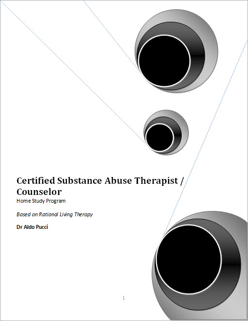 Certified Substance Abuse Counselor Home Study Program